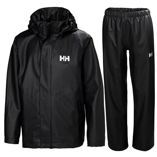 Helly Hansen Moss regnsæt regntøj junior, sort