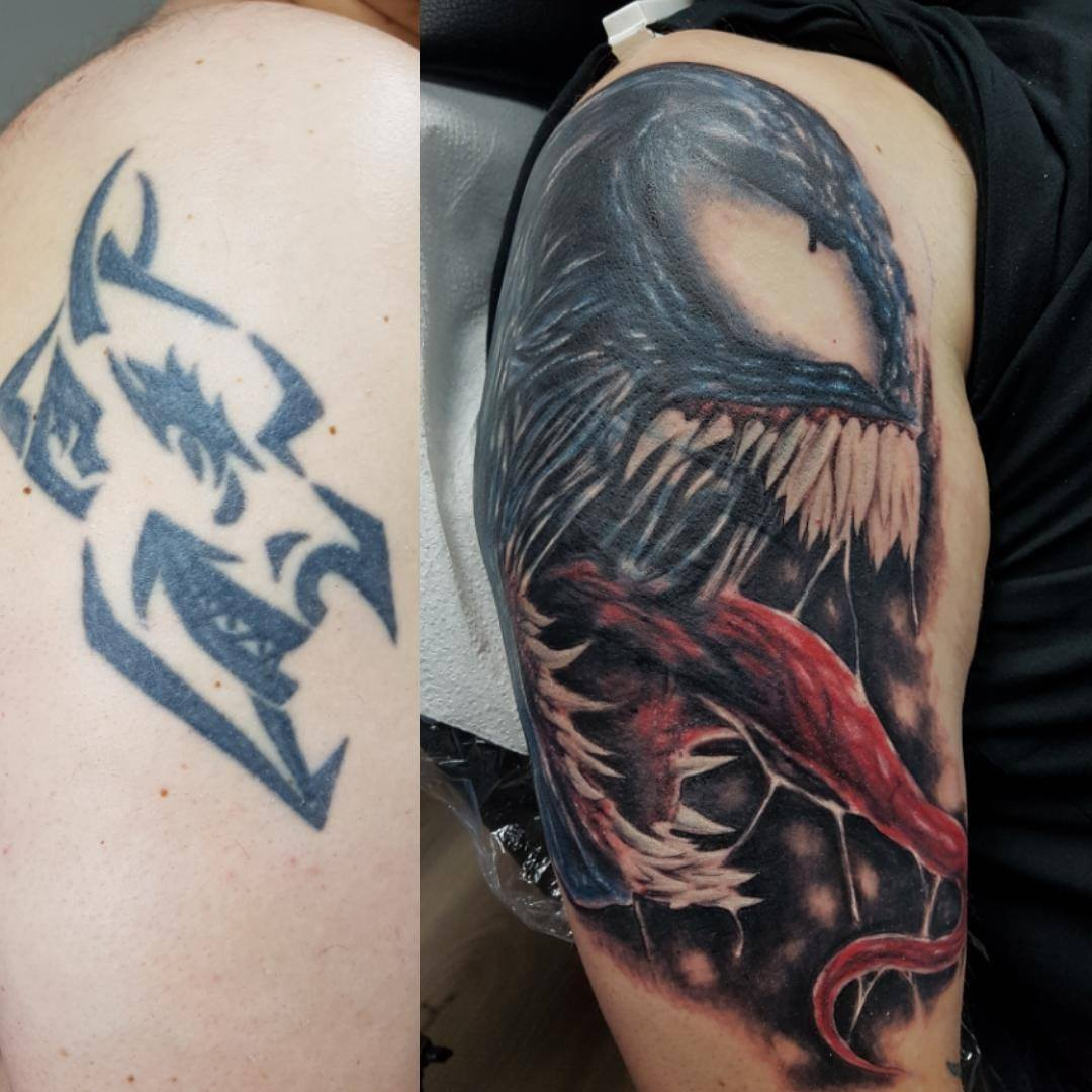 Venom Cover-up Tattoo