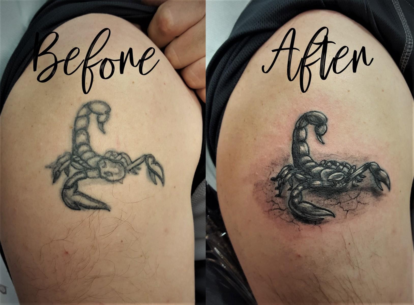 Pimp my scorpion - vorher (nicht von mir) und nachher