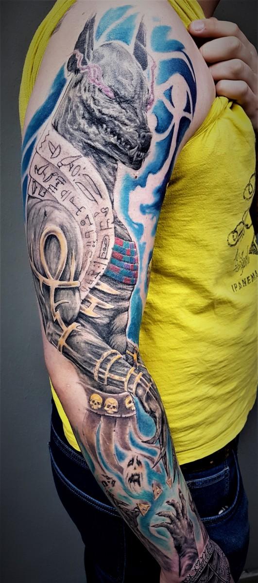 Ancient Egypt  Sleeve - Anubis Tattoo