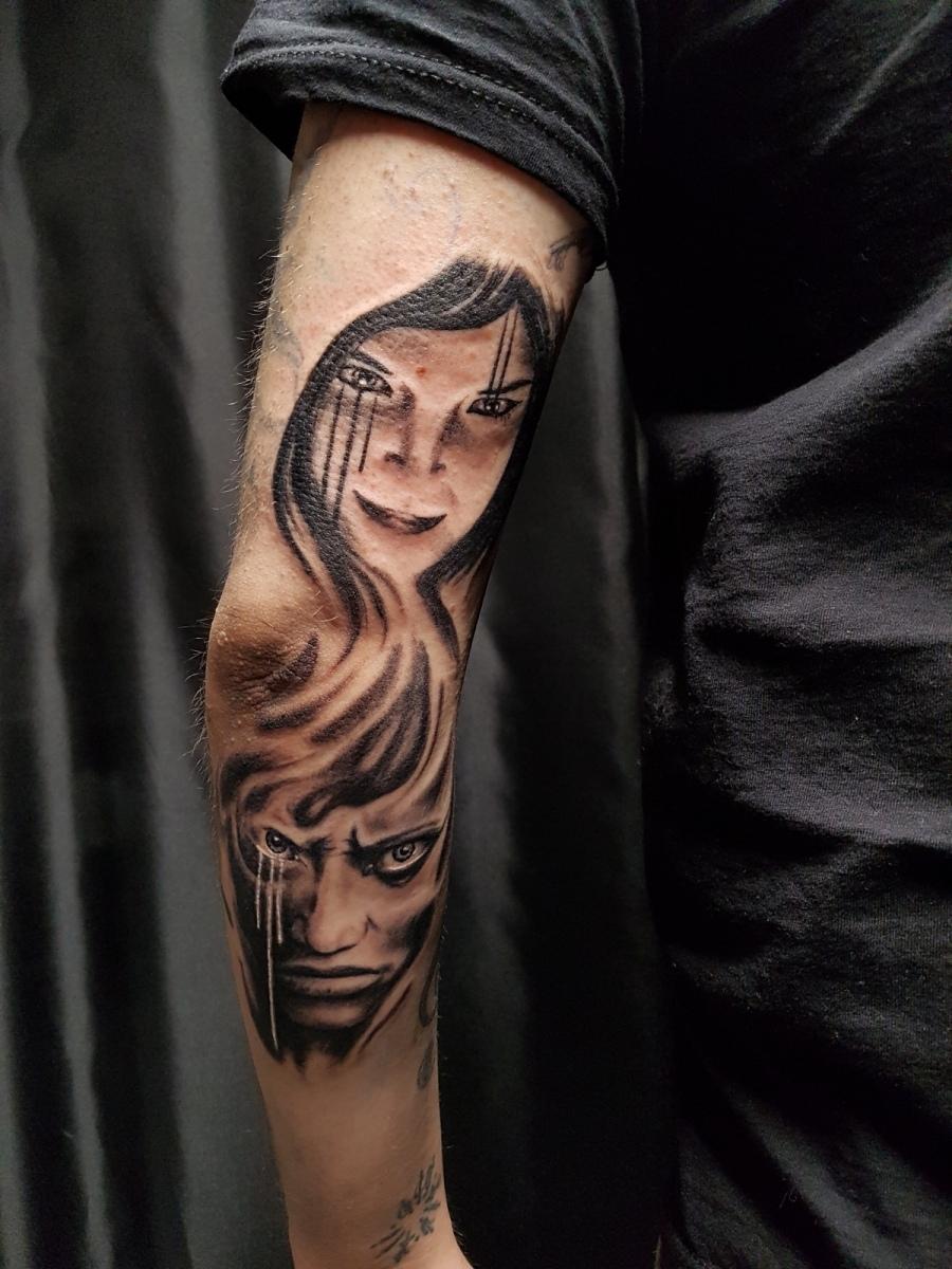 Pain Tattoo - Dämonische Gesichter