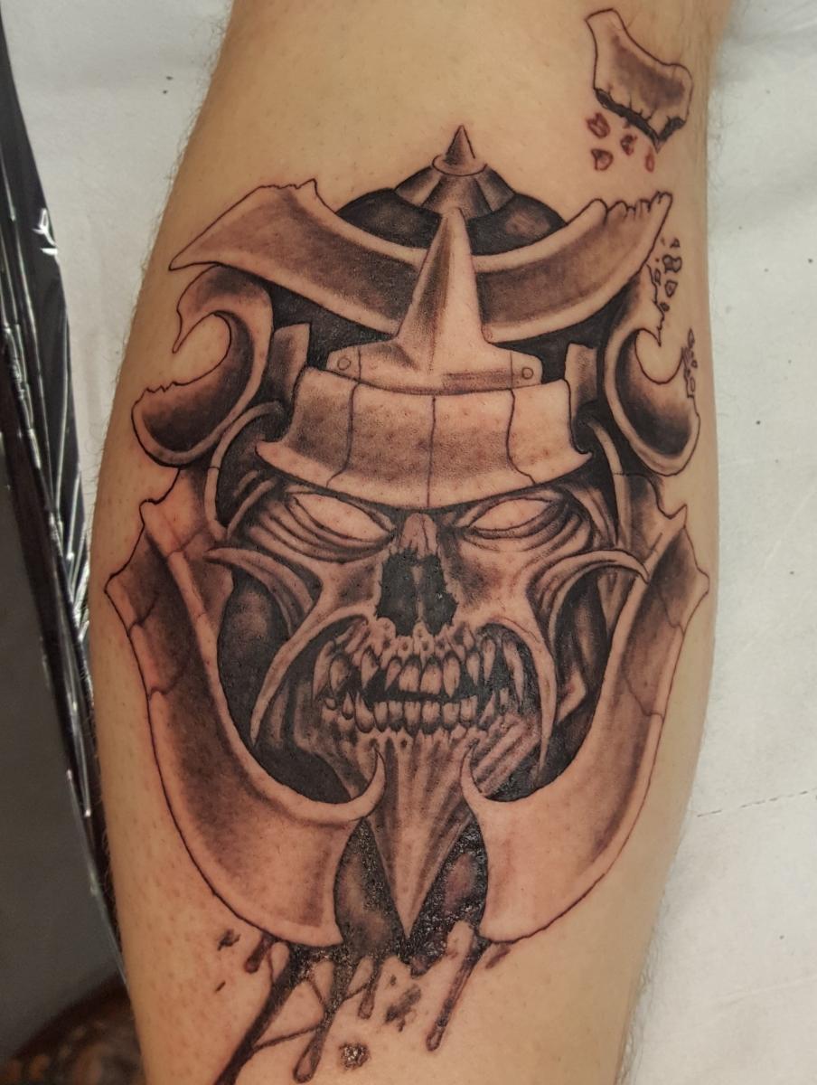 Samurai Schädel Tattoo