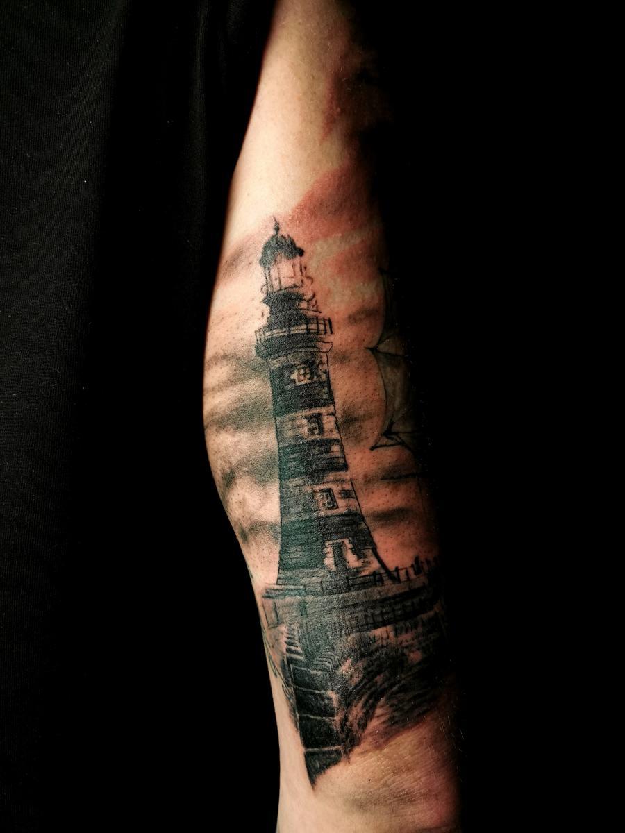 Leuchtturm-Tattoo-Ozymandias