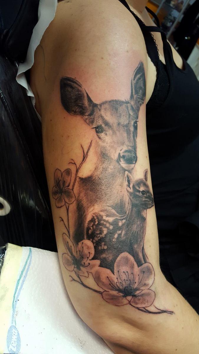 Bambi-Tattoo-Rehtattoo
