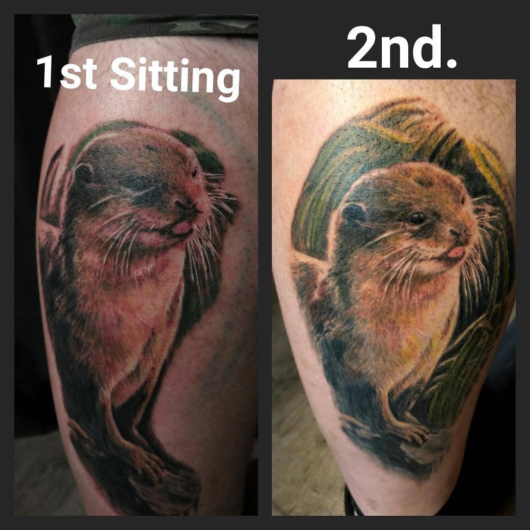 Otter-Tattoo - noch nicht fertig
