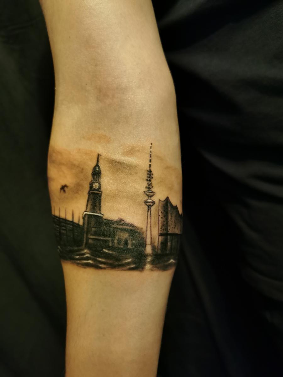 Hamburger Skyline als Armband