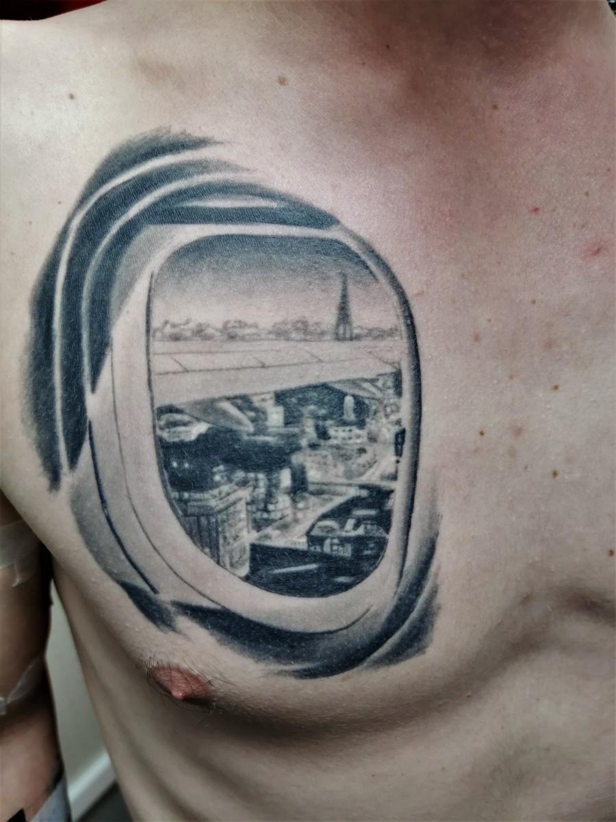 Verheiltes Reisen Tattoo