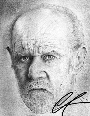 Porträt von George Carlin by Ozzy
