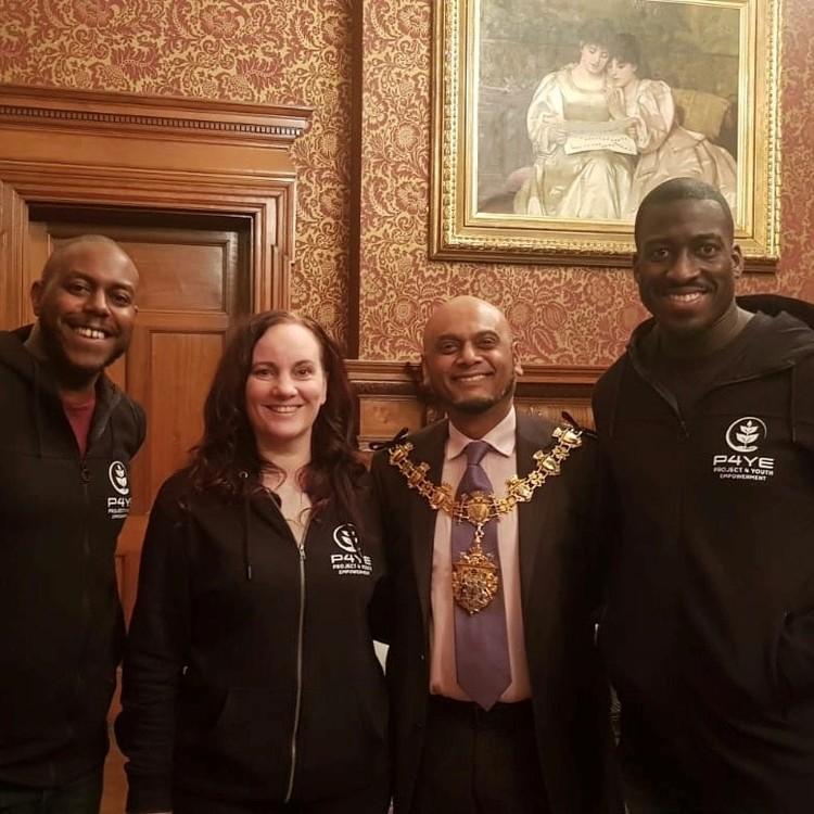 group photo with the mayor of croydon