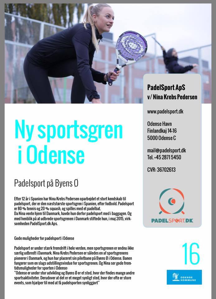 en nye trend i Odense hedder Padelsport 80% tennis og 20% bliver til padel. Kom og få en gratis prøvetime på padelbanen på odense havn. Byens Ø