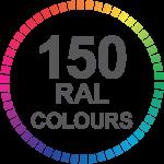 150 Colours for Aluminium Sliding doors