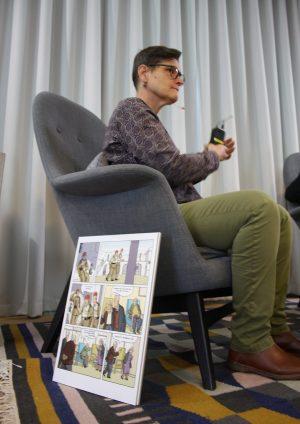 Förläggaren i samtal under Seriefest i Väst