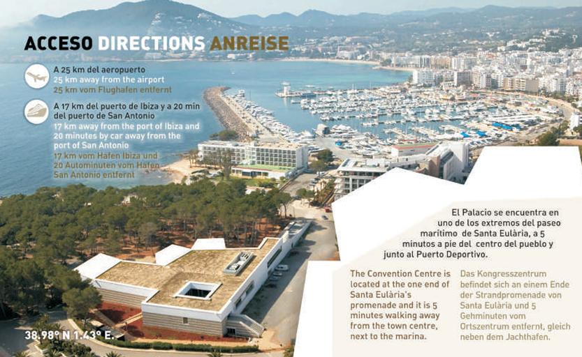 Como llegar Palacio de Congresos de Ibiza
