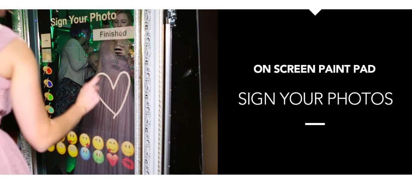 Magic Mirror Photo Booth Sign Your Photos