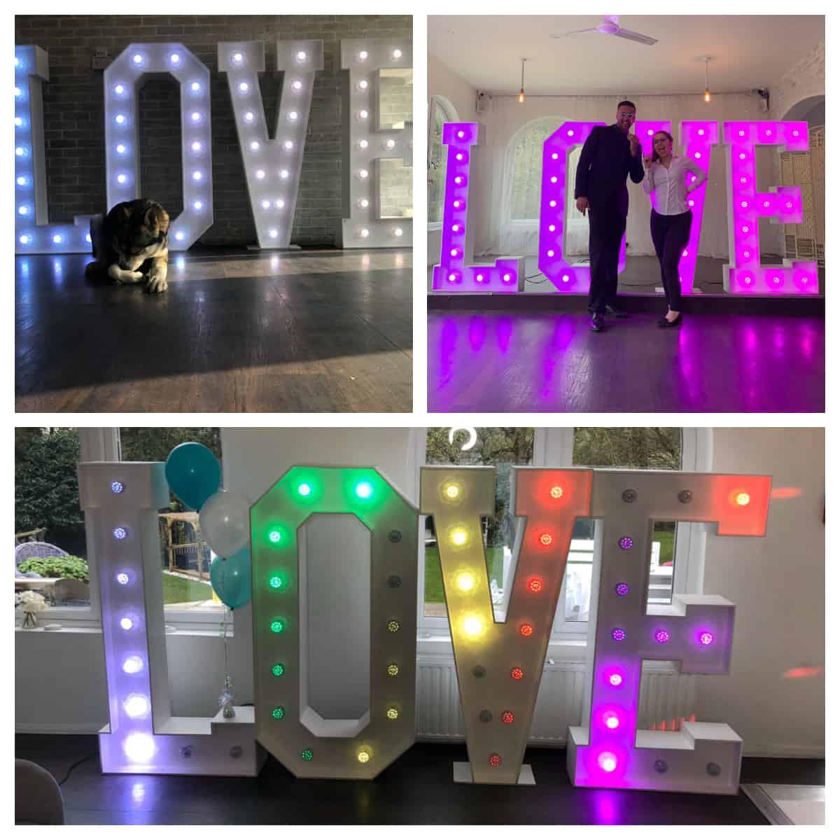 LED Letters Hire