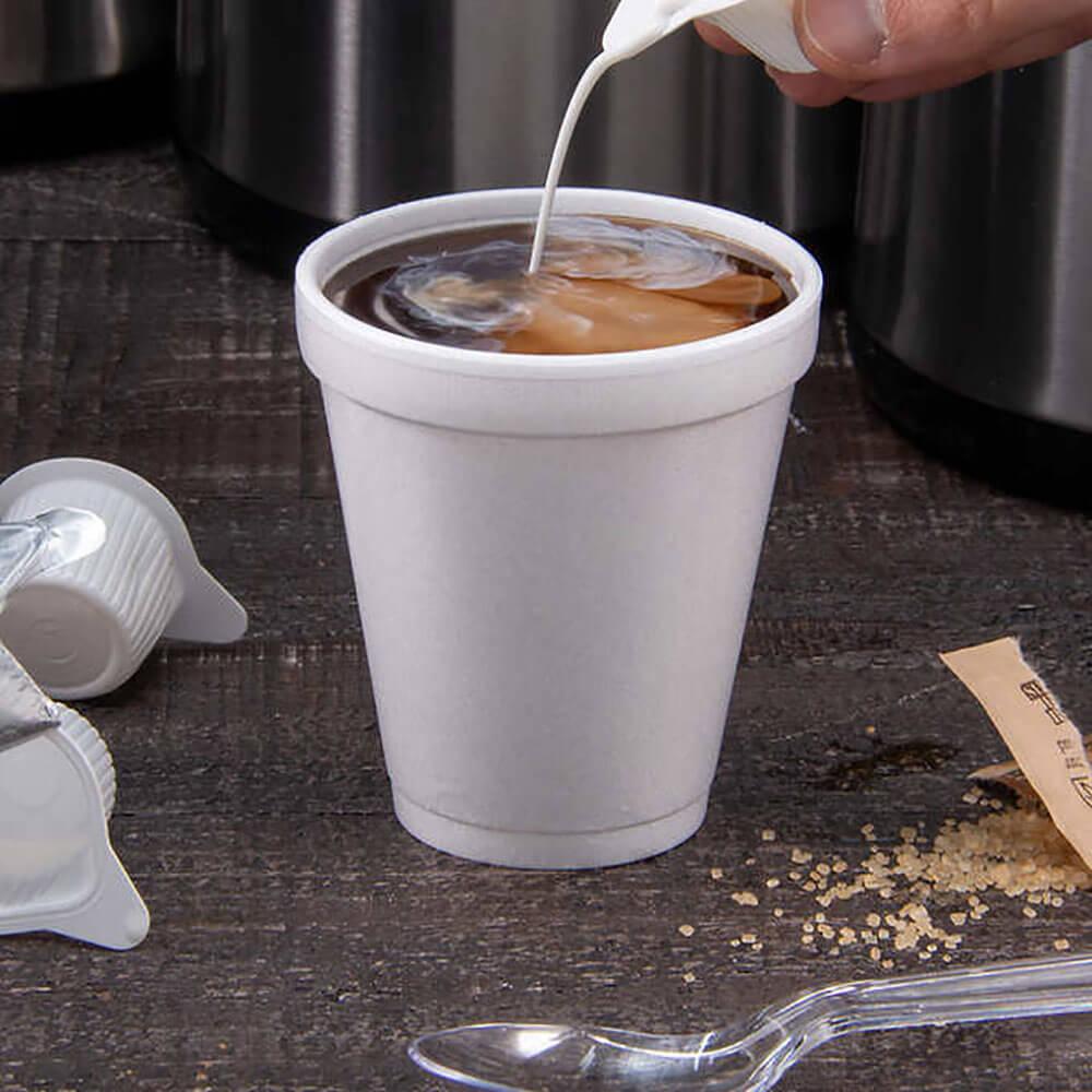 Termobæger - EPS - 23 cl - kop med kaffe og fløde