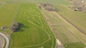 Banerne set fra drone