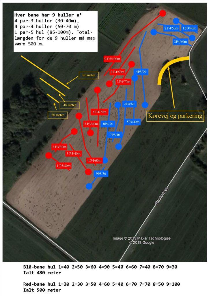 Plan over golfbanerne