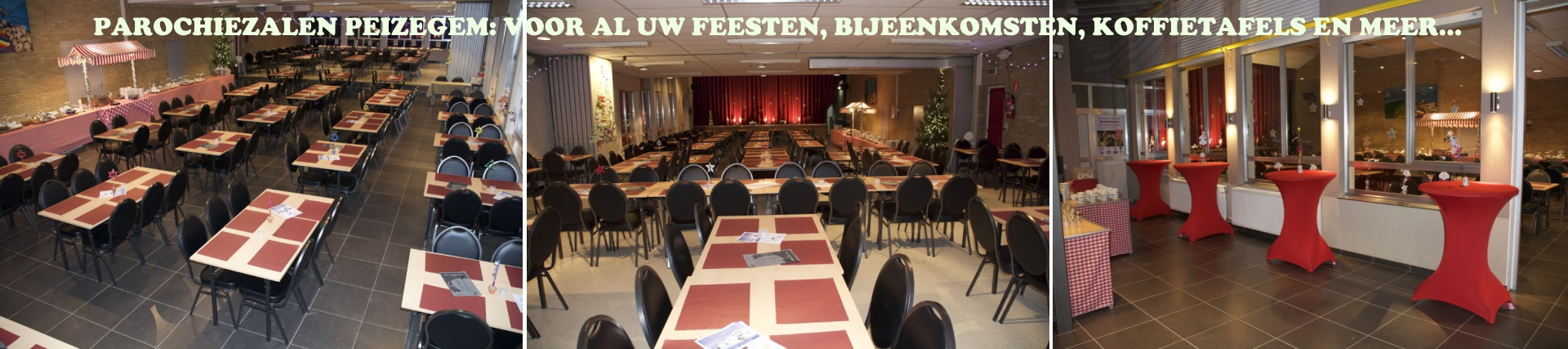 Parochiezalen Peizegem: zalen voor feest, vergadering, koffietafels, presentaties en meer...
