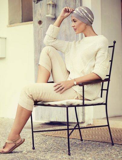 Shanti Christine Headwear, brun og Citron
