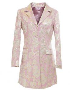 Floral pink elegant coat