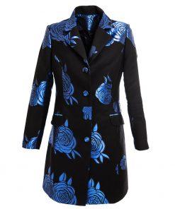 Floral blue coat