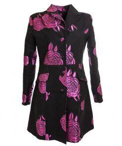 Floral pink coat