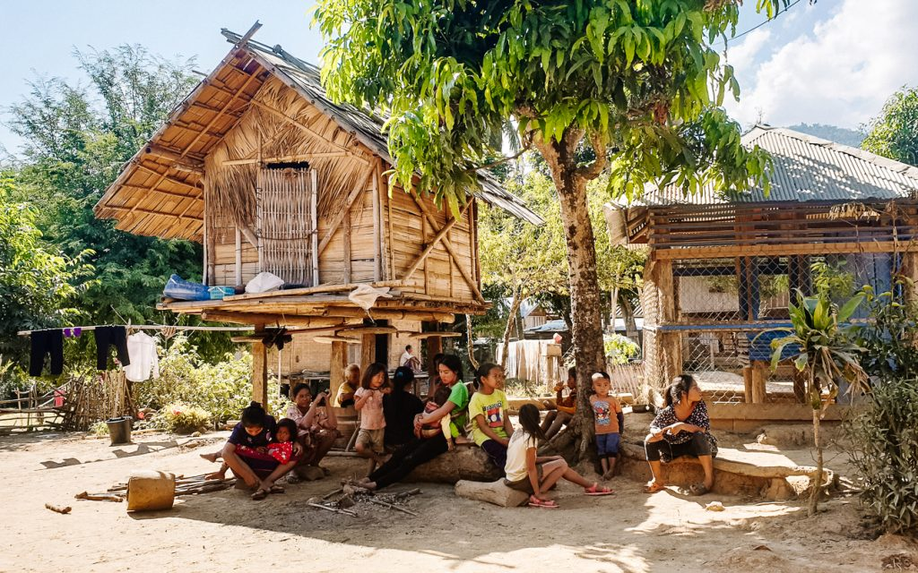 local village Laos traditions and customs