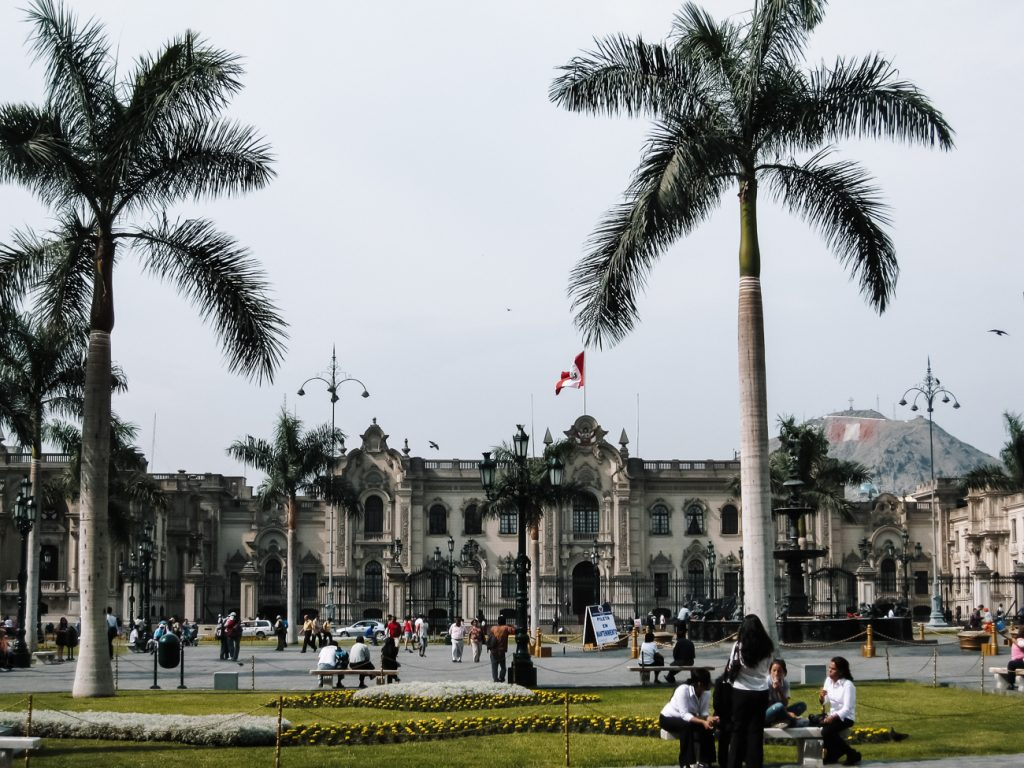 Visit the beautiful colonial city center of hightlights Lima Peru