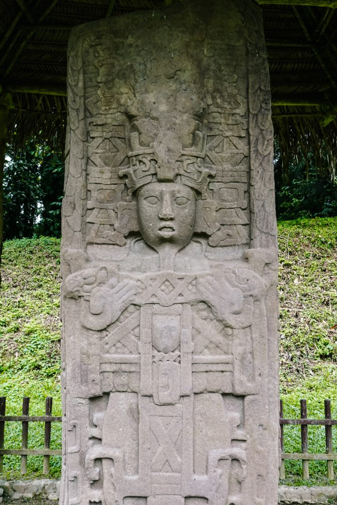 Discover beautiful Mayan ruins and stelae | Quirigua archaeological national park in Guatemala