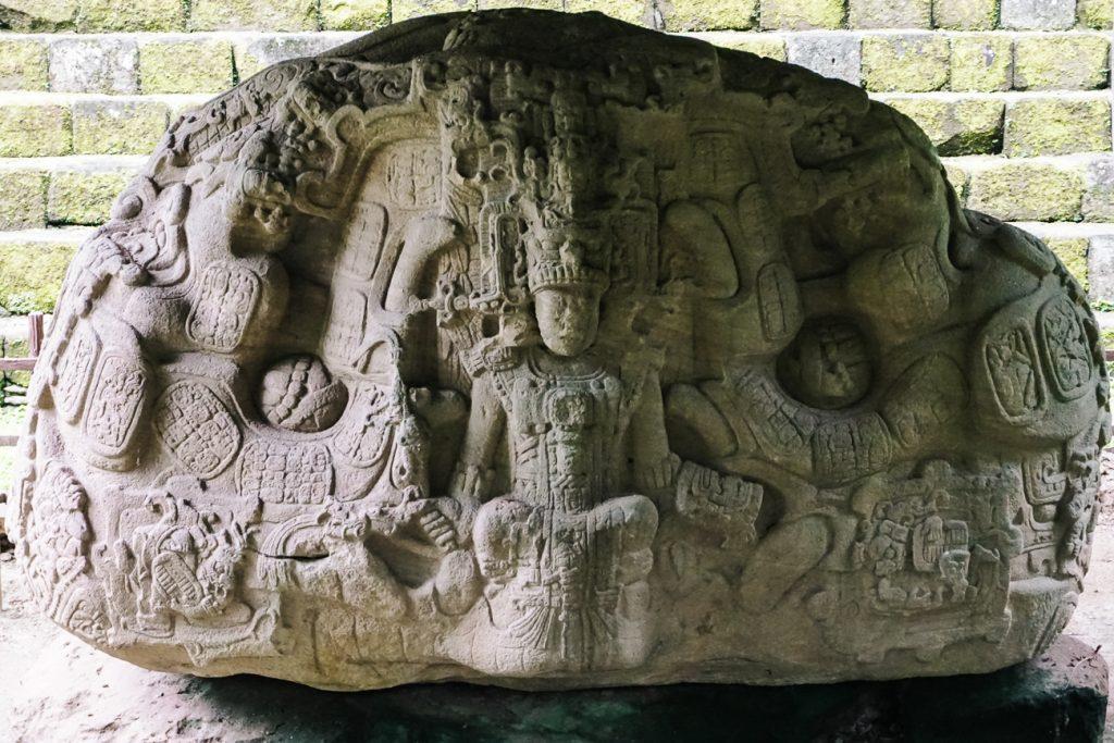 Quirigua archaeological national park sculptures
