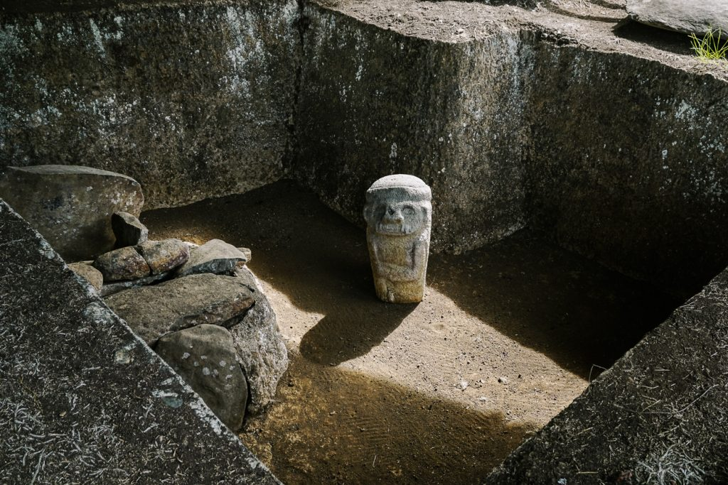 tombs of San Agustin archaeological park in Colombia