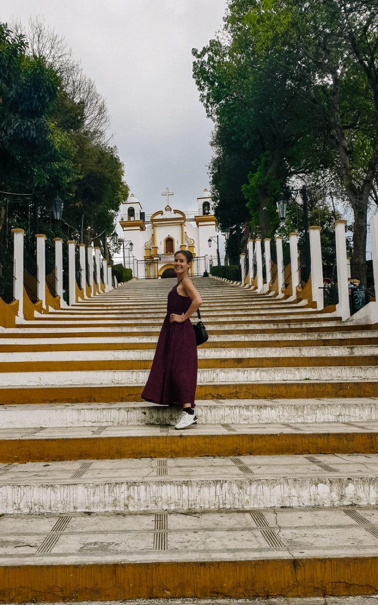 Trappen naar uitzichtpunt San cristobal de las Casas Mexico