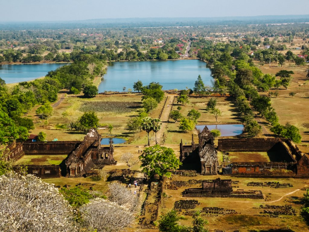 Vat Phou Laos uitzicht