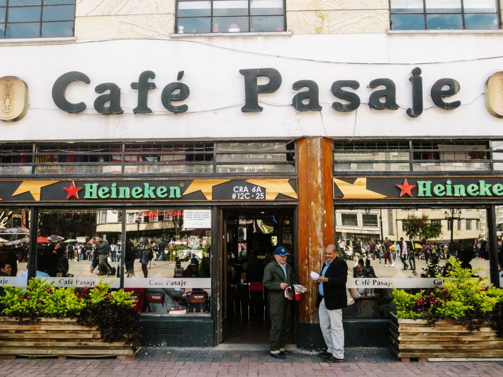 things to do in Bogota - cafe pasaje