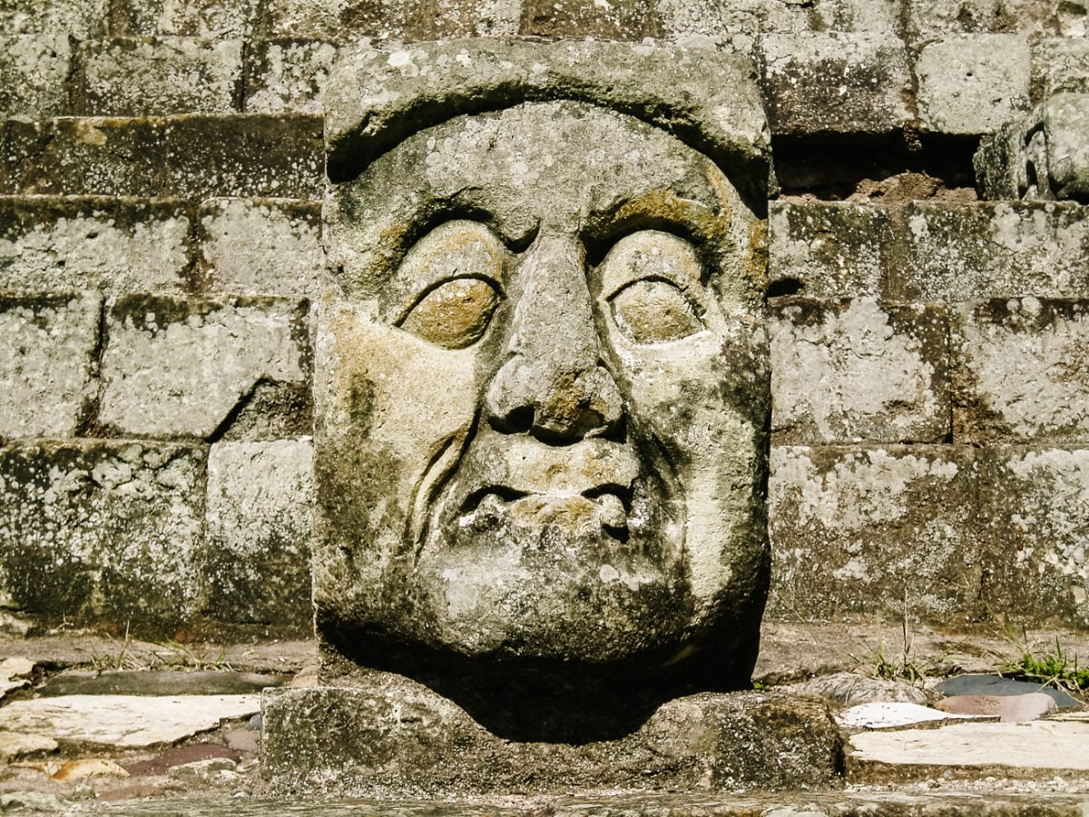 Maya statue from Copan Honduras