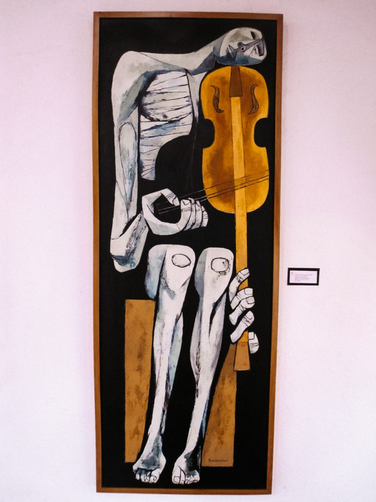 de kleurrijke kunst van Oswaldo Guayasamín is sociaalkritisch