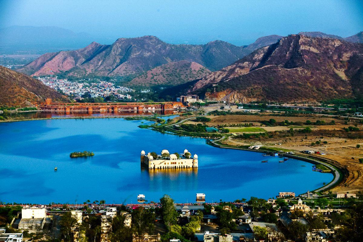Jaipur India Water paleis