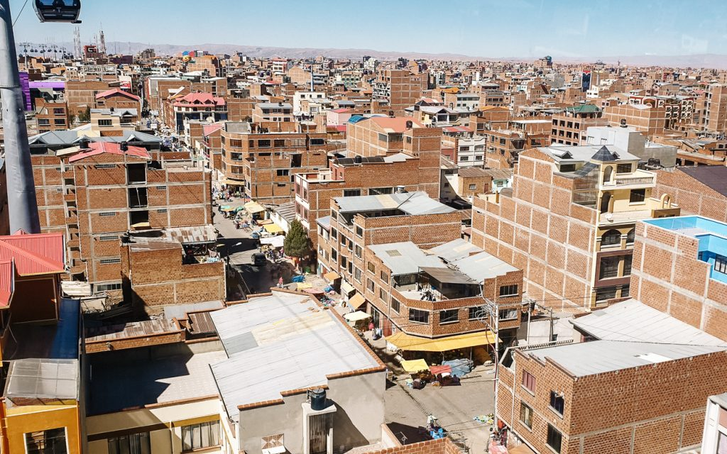 uitzicht op El Alto