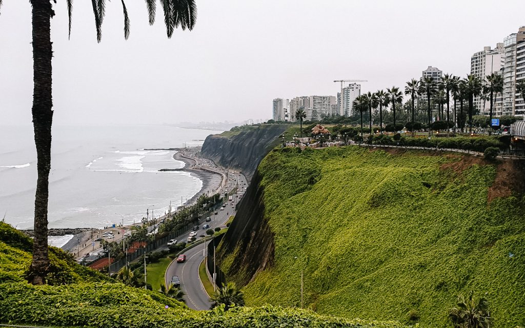 Walk along the Pacific ocean coast line is one of best things to do in lima peru