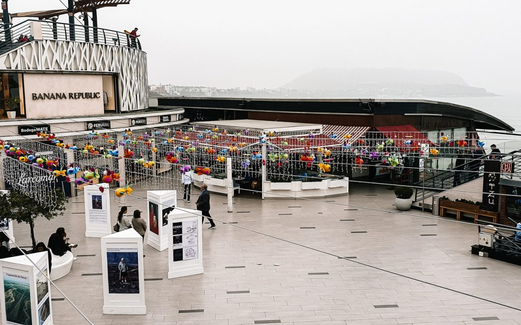 Best shopping in Lima is at Larcomar shopping center with local brands and products