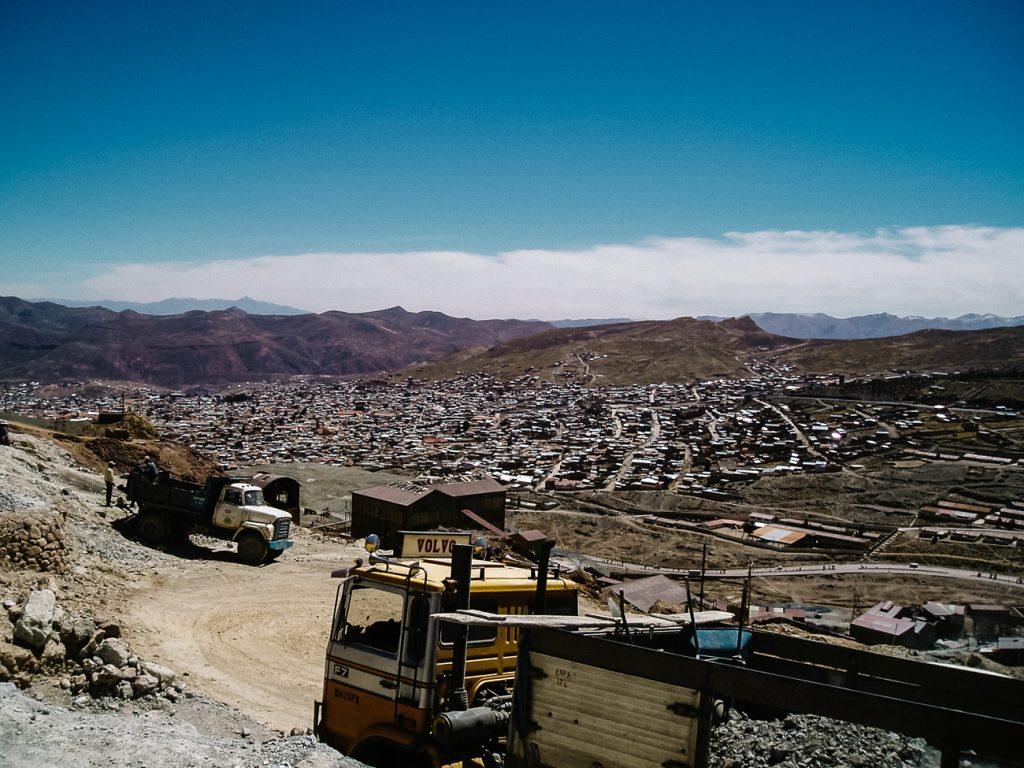 uitzicht vanaf cerro rico, de Potosi mijnen