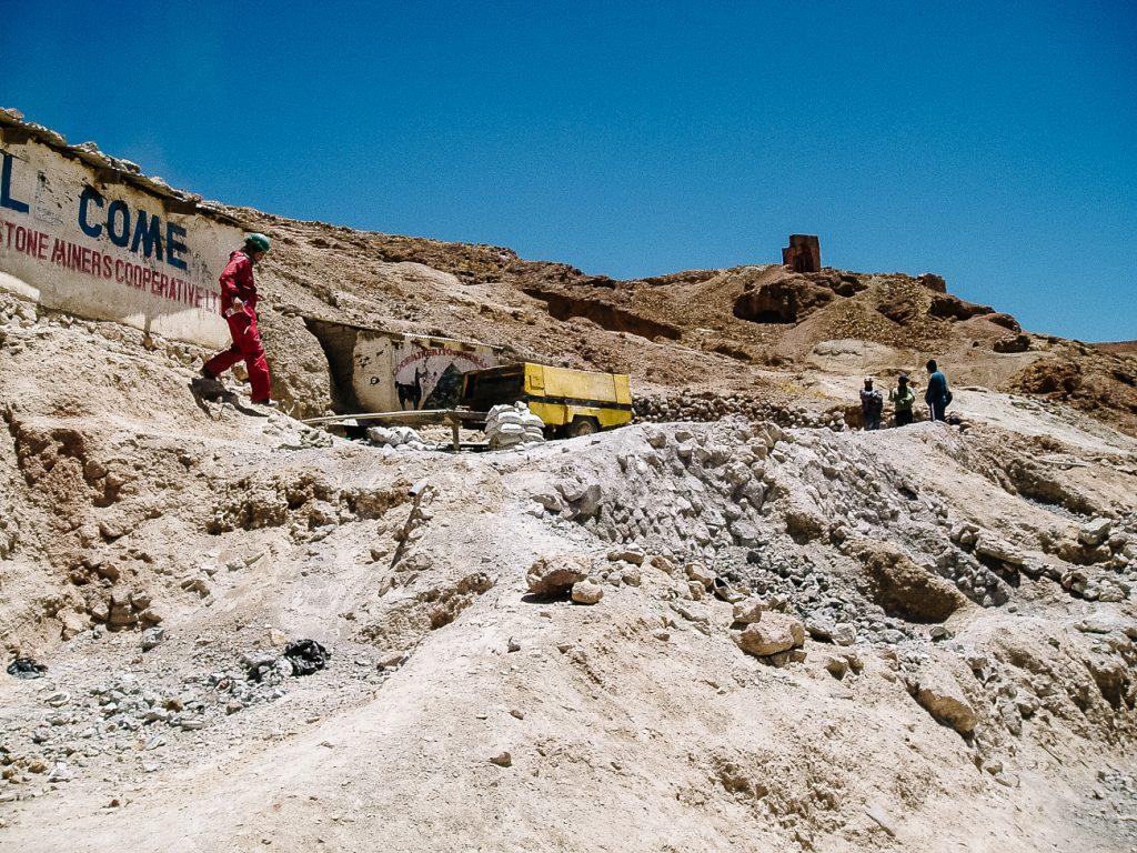 cerro rico, de Potosi mijnen