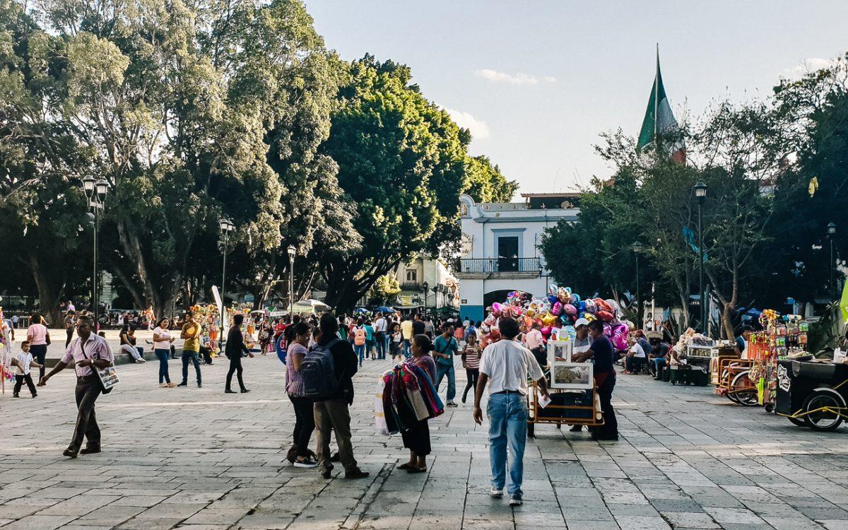 het centrale plein in Oaxaca Mexico