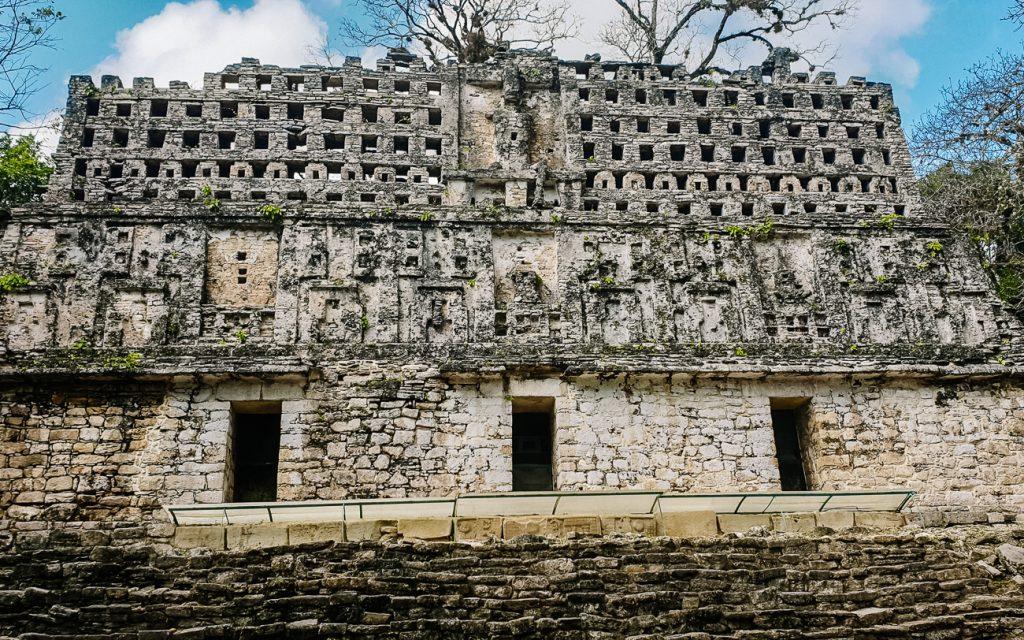Maya paleis in Yaxchilan in Mexico