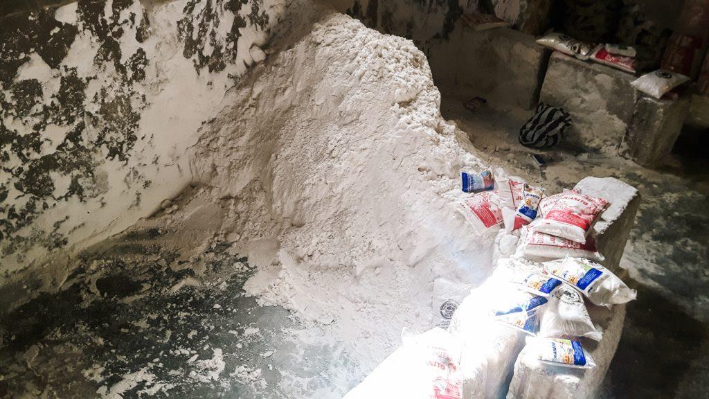 colchani saltprocessing to visit during a Uyuni salt flats tour 1 day