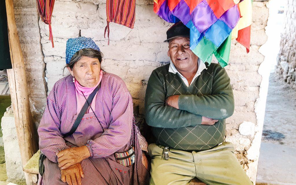 colchani saltprocession duiring a visit during a Uyuni salt flats tour 1 day