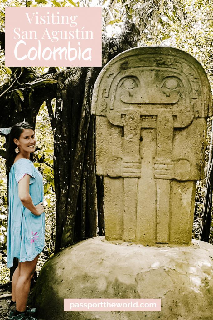 Pin San Agustin archaeological park Colombia