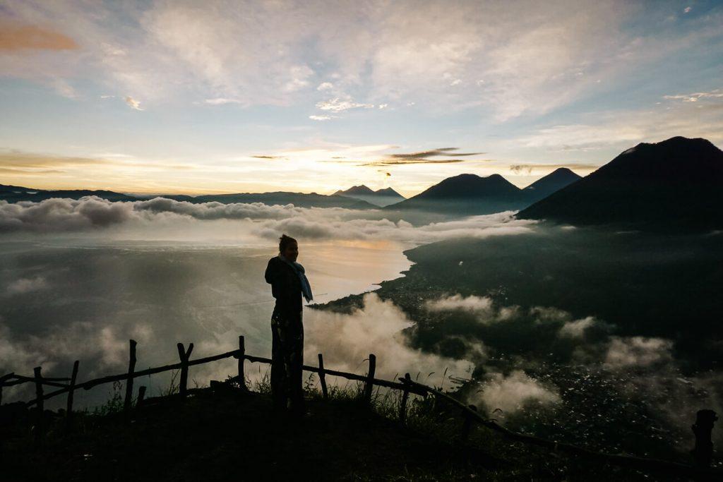 Indian Nose viewpoint - lake Atitlan