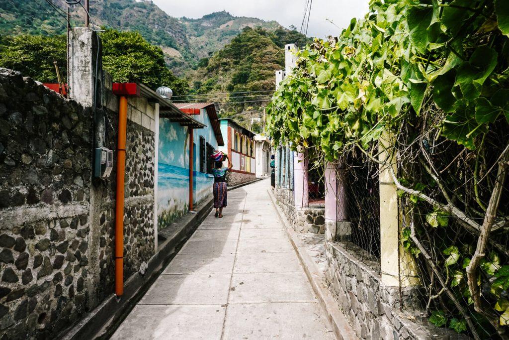 streets of jaibailito Lake Atitlan